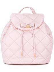 Salvatore Ferragamo Quilted 'Vara' Backpack Pink And Purple