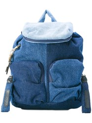 See By Chloe Denim Backpack Blue