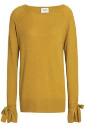 Charli Bow Detailed Cashmere Sweater Sage Green