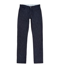 Canali Silk And Cotton Jeans Male Dark Grey