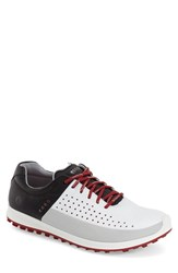 Men's Ecco 'Biom Hybrid 2' Golf Shoes White Concrete Black Leather