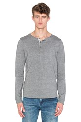 Scotch And Soda Longsleeve Grandad Tee Gray