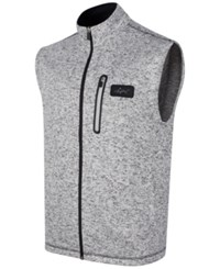 Greg Norman For Tasso Elba Heathered Zip Vest Only At Macy's White Heather