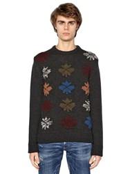 Dsquared Maple Leaf Wool Blend Sweater