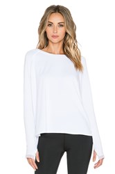 Alala Long Sleeve Raglan Tee White
