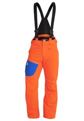 Salomon Chill Out Waterproof Trousers Vivid Orange Blue Yonder