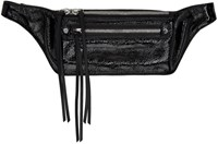 Rag And Bone Black Small Patent Leather Fanny Pack