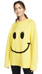 Joostricot Crew Neck Smiley Sweater Limelight Coal