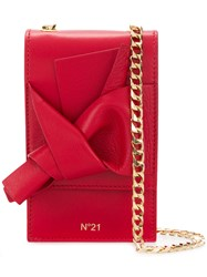N 21 No21 Abstract Bow Cellphone Bag Red