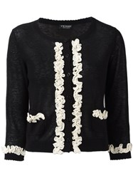 Twin Set Frill Detail Cardigan Black