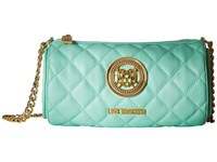 Love Moschino Cylinder Quilted Crossbody Bag Mint Cross Body Handbags Green