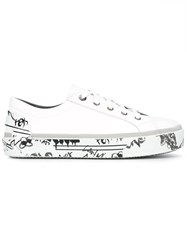 Lanvin Printed Sole Sneakers White