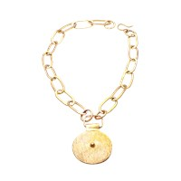 Alexander Betty Matte Tribal Pendant Gold