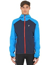 Peak Performance Pac Hooded Zip Up Nylon Jacket