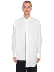 Juun.J Oversize Patchwork Cotton Poplin Shirt White