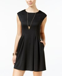 Speechless Juniors' Pleated A Line Dress Black