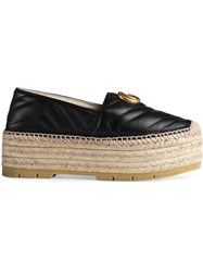 32fbd8a1c5a Gucci Leather Espadrille With Double G Black