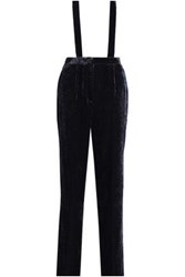 Claudie Pierlot Velvet Straight Leg Pants Midnight Blue