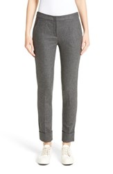 Armani Collezioni Women's Stretch Wool And Cashmere Flannel Pants Heathered Grey