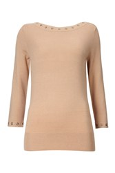 Wallis Petite Camel Slash Neck Top