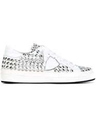 Philippe Model Studded Sneakers White