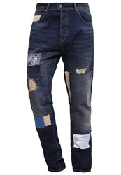 Desigual Slim Fit Jeans Denim Dark Blue Destroyed Denim