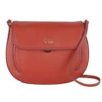 Tula Bella Leather Small Across Body Bag Red