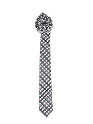 Thom Browne Checked Pointed Tip Tie Blue