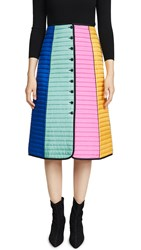 Tory Burch Colorblock Quilted Skirt Duchess Blue