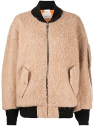 Laneus Textured Bomber Jacket Neutrals