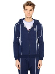 Dirk Bikkembergs Hooded Stretch Cotton Sweatshirt