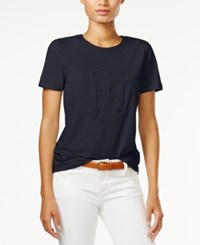 Tommy Hilfiger Logo Graphic T Shirt Only At Macy's Midnight