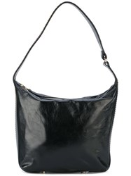 Lanvin Chaine By Hobo Bag Women Cotton Calf Leather Lamb Skin Brass One Size Black