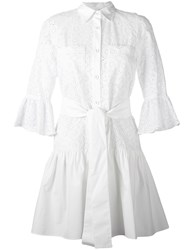 Derek Lam 10 Crosby Button Down Shirt Dress Women Cotton Polyester 6 White