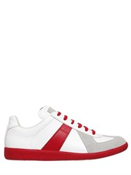 Maison Martin Margiela Leather And Suede 70'S Tennis Sneakers