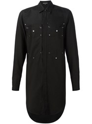 Ann Demeulemeester Long Patch Pocket Shirt Black