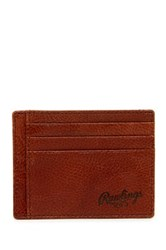 Rawlings Sports Accessories Triple Play Leather Id Case Brown
