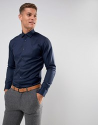 Selected Homme Slim Easy Iron Smart Shirt Navy
