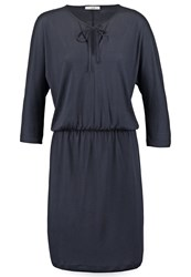 Bzr Amber Jersey Dress Dark Navy Dark Blue