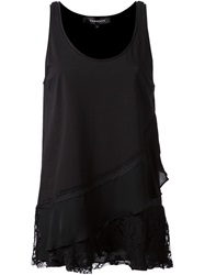 Thakoon Lace Layer Tank Top Black