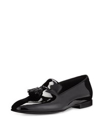 5a254c20ead5 Tom Ford Chesterfield Patent Leather Tassel Front Loafer Black