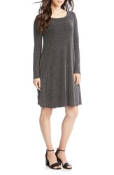 Karen Kane Chloe Metallic Shift Dress Silver