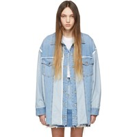 Sjyp Blue Denim Long Jacket