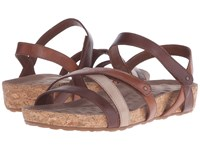 Walking Cradles Pool Brown Tonalu Multi Cork Wrap Women's Sandals
