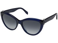 Alexander Mcqueen Am0003s Blue Opale Blue Gradient Fashion Sunglasses Navy