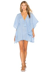Seafolly Crochet Trim Caftan Blue