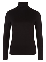 Hobbs Mischa Roll Neck Top Black