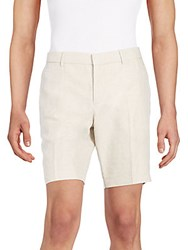 J. Lindeberg Linen And Cotton Shorts Beige