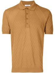 Paolo Pecora Short Sleeve Polo Shirt Nude And Neutrals