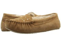 Minnetonka Rhinestone Slipper Cinnamon Suede Women's Slippers Tan